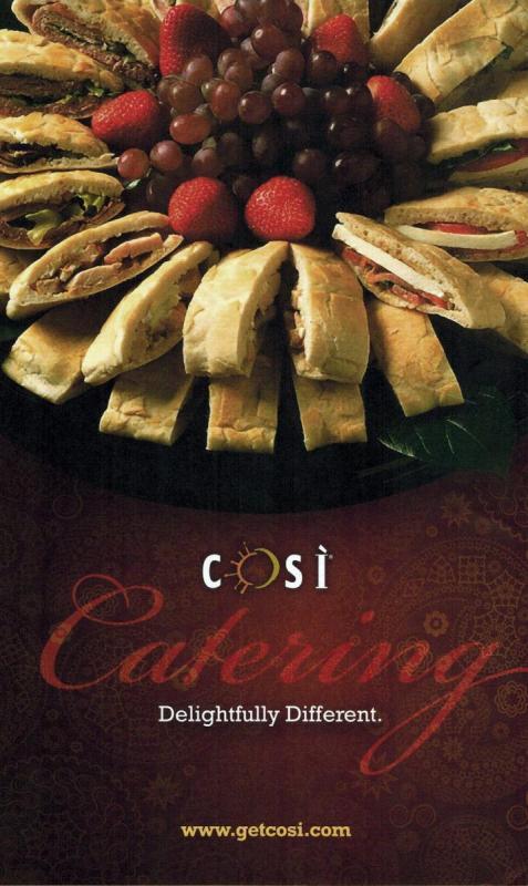 Cosi restaurants catering poster