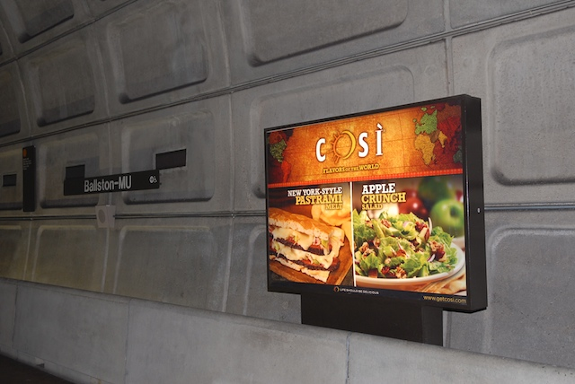 cosi restaurants subway billboard ad