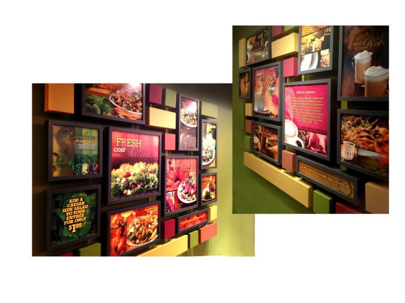 cosi restaurants wall menu dispay