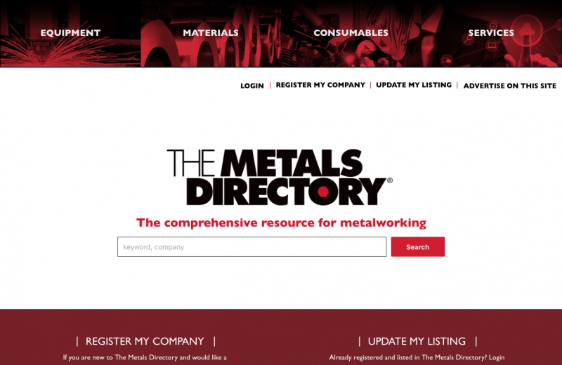 metals directory home page