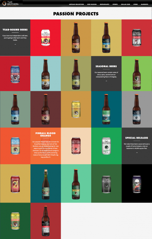 two brothers brewery beer page