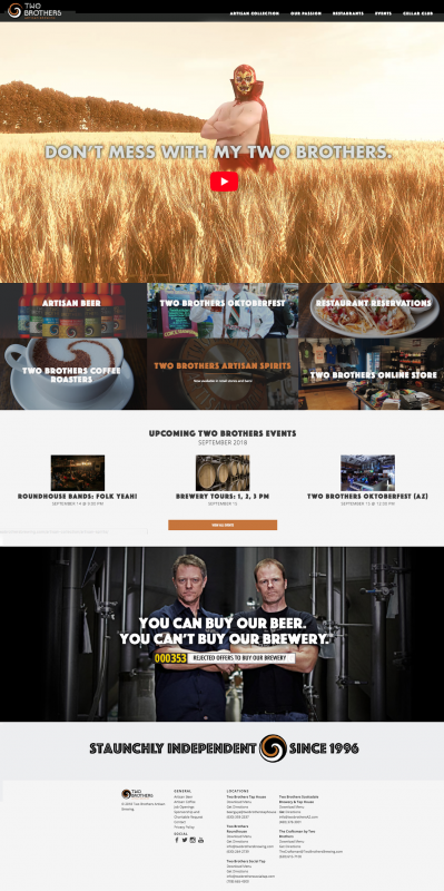 two brothers brewery home page