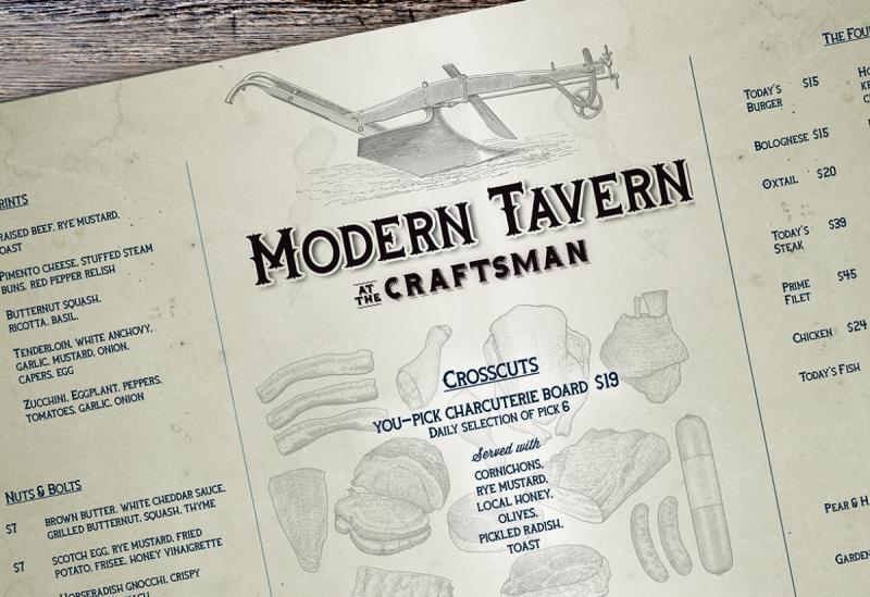 Craftman Modern Tavern menu